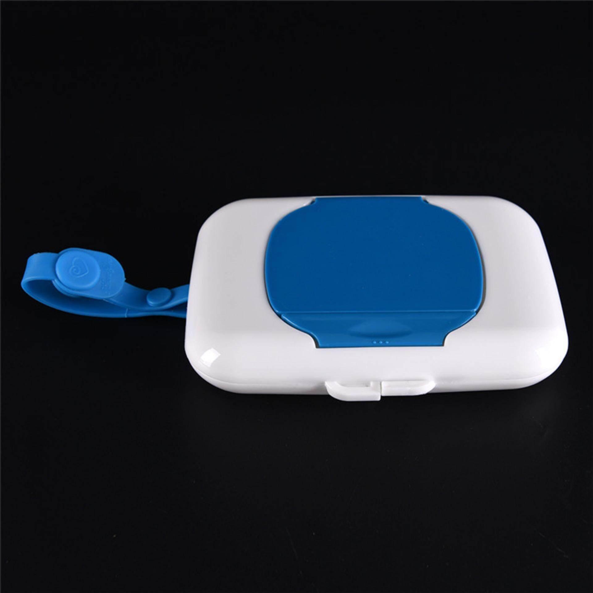 Baby Travel Wipe Case Child Wet Wipes Box Changing Dispenser Storage Holder Blue - Intl By A Mango.