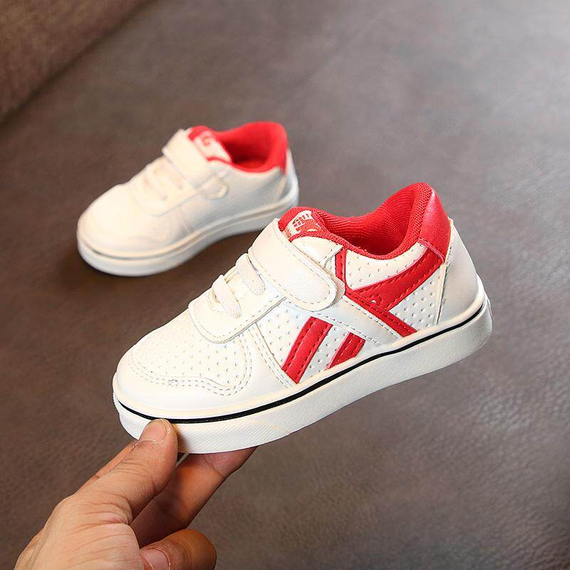 5803ab5bfc9 Baby 1-3 Years Old Breathable Athletic Shoes 2019 Autumn New Style boy men  Anti-slip Soft Bottom Sneakers Girls White Shoes Fashion