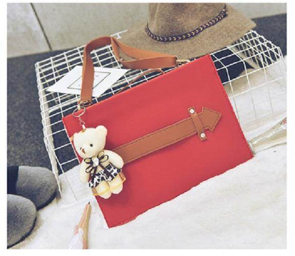 [PRE-ORDER] Women Korean Arrow Envelope Crossbody Sling Bag Red