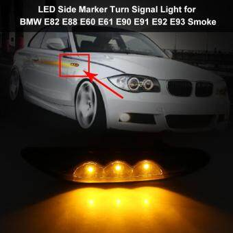 Side Marker Turn Signal LED Light for BMW E82 E88 E60 E61 E90 E91 E92 E93 Smoke