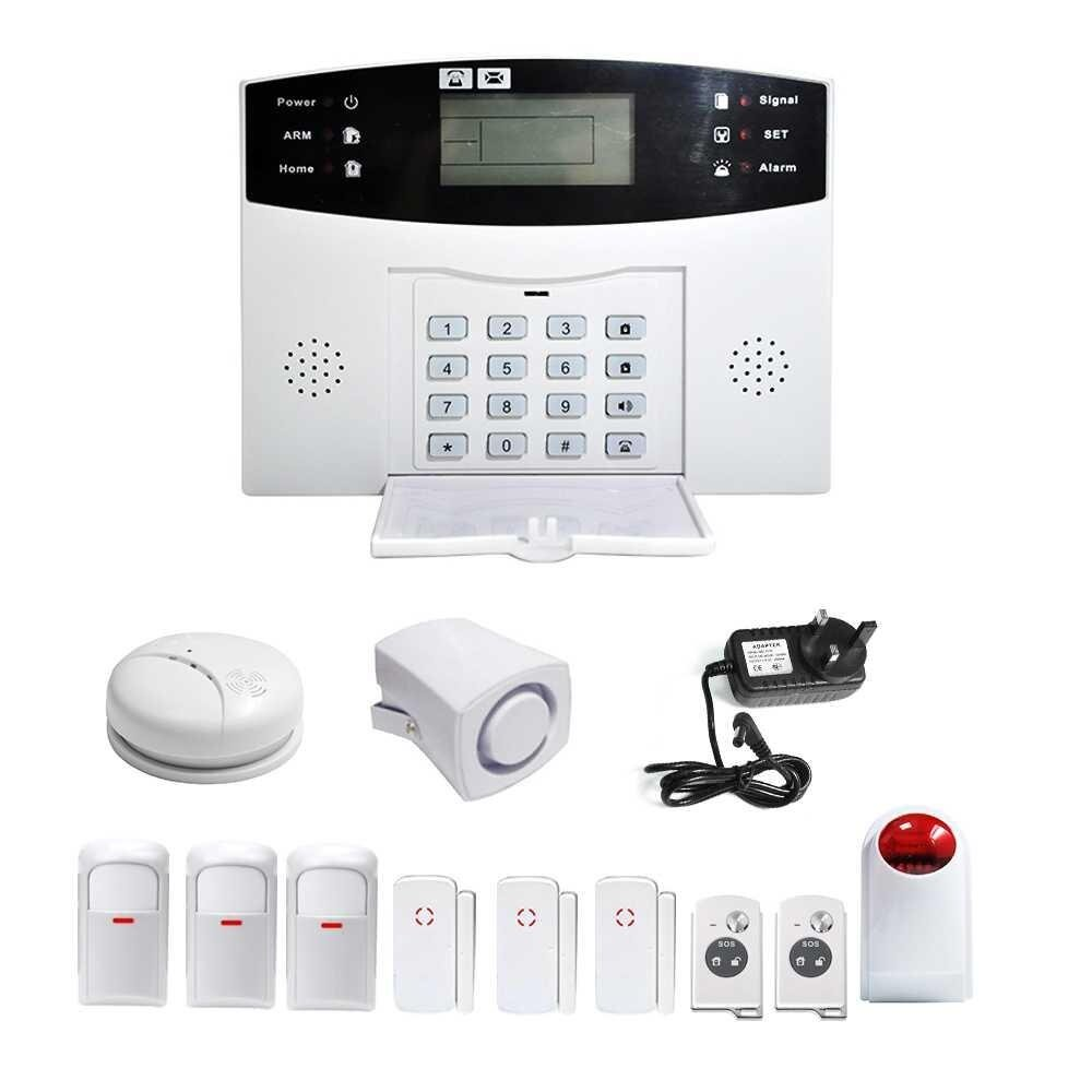 Wireless GSM SMS Home House Security Inturder Alarm System Smoke Sensor - intl