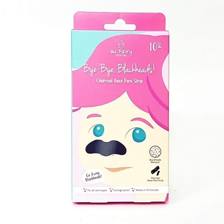 AU FAIRY CHARCOAL NOSE PORE STRIP 10'S(BYE-BYE BLACKHEADS)