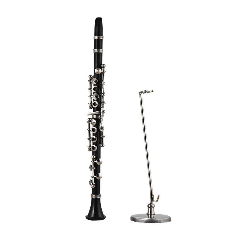 Mini Clarinet Model Exquisite Desktop Musical Instrument Decoration Ornaments Musical Gift with Delicate Box Malaysia