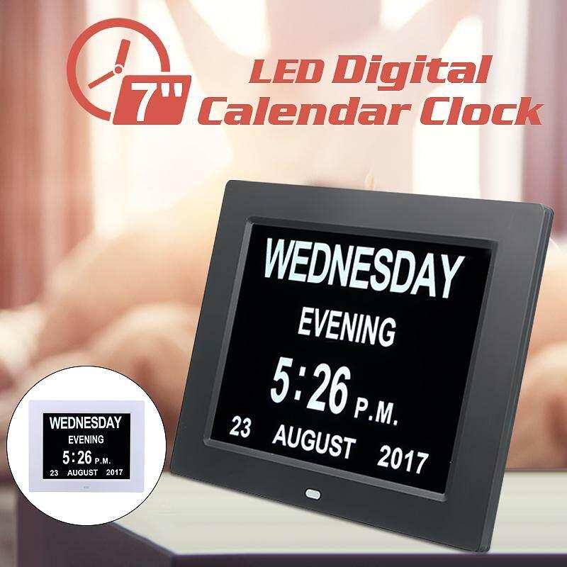 8 LED Dementia Digital Calendar Day Clock Extra Large Day/Week/Month/Year AU