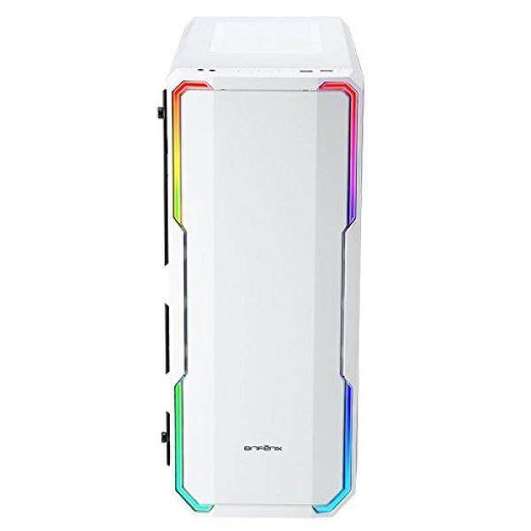 [From.USA]BitFenix Enso White, ATX Case Tempered Glass, Alchemy 3.0 Addressable Asus AURA SYNC RGB with Controller BFC-ENS-150-WWWGK-RP B074W5J61K Malaysia