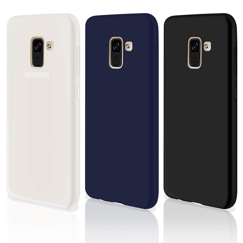 3 pcs Rymall For Samsung Galaxy A8 2018 Casing Soft TPU Silicone Flexible Gel Slim Shockproof