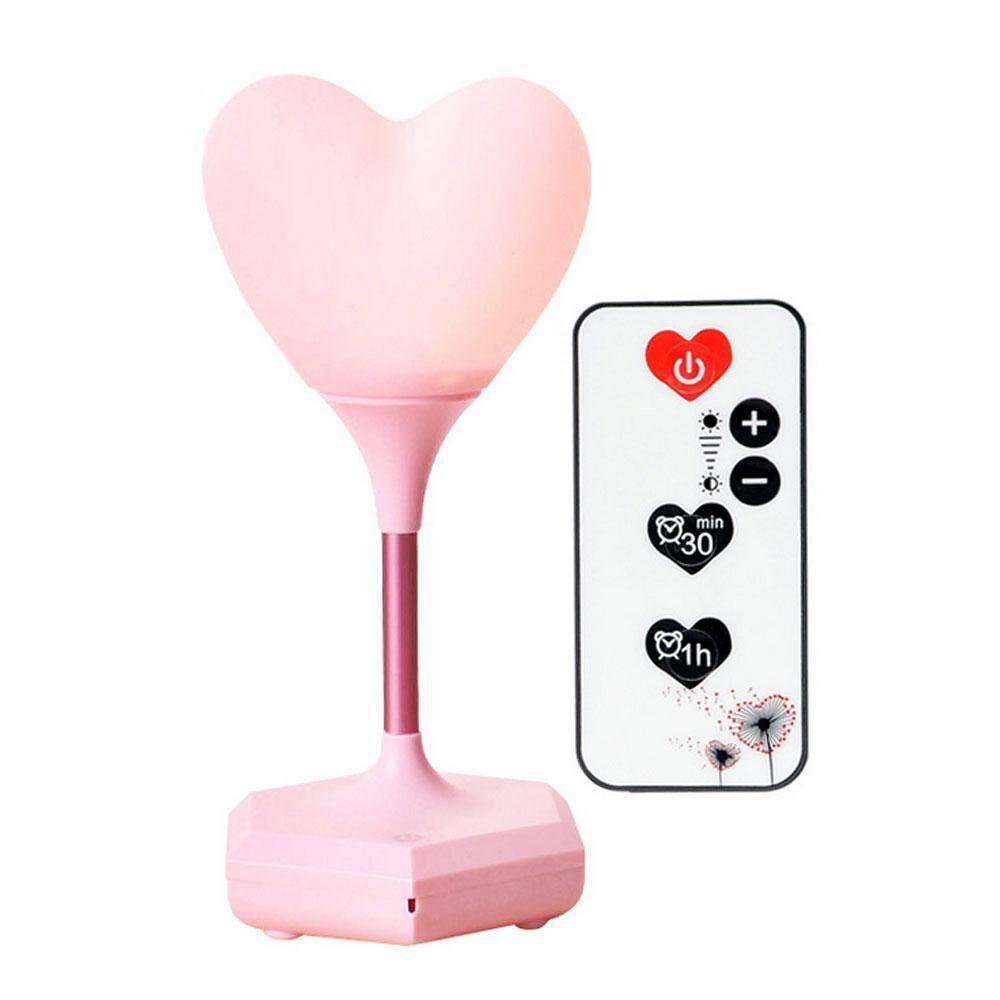 Goodgreat 3D Jantung Lampu Malam, Silikon Pengendali Jarak Jauh Lampu USB, Lampu Kamar Anak untuk Kamar Bayi, Kamar Tidur, Ruang Keluarga, makan Bayi-3 Mode Sakelar Sentuh
