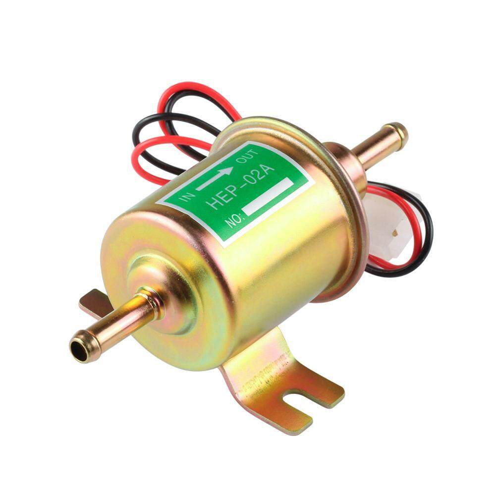 Universal Low Pressure Diesel Gasoline Petrol 12V Electric Fuel Pump(Gold)