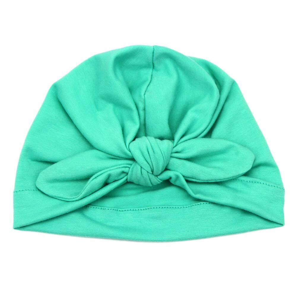Topi Katun Bayi Lembut Sorban Simpul Gadis Topi Kethu Musim Panas Telinga  Kelinci Bohemian Topi Selubung bb0046c96b