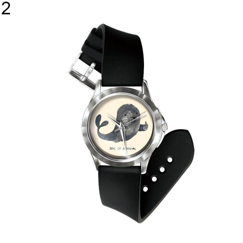 Phoenix B2C Cute Cartoon Animals Unicorn Cat Whale Cat Women Kids Analog Quartz Wrist Watch (2#) Malaysia
