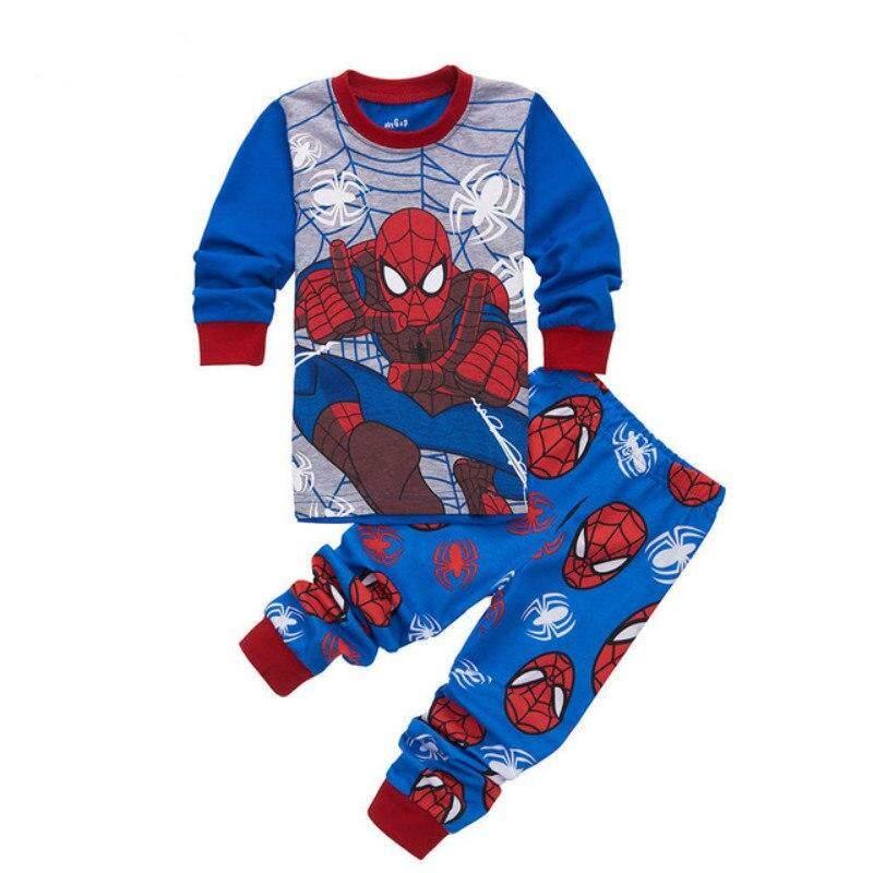 MuXing Clothing Sets Boys Sleepwear Clothes Kids Batman Pajamas Set Baby  Girls Cotton Cartoon Pijamas Spring 582de4075