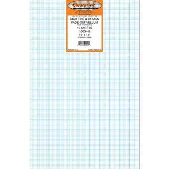 New Clearprint 1000h Design Vellum Sheets With Printed Fade Out 8x8