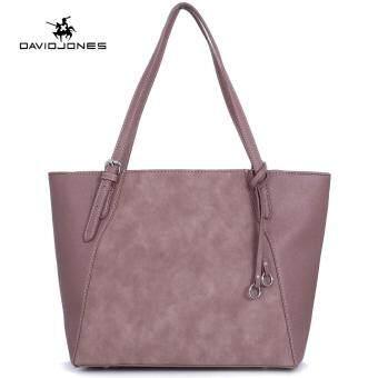 ซื้อเลย DAVIDJONES women handbag pu leather female tote bag large lady  plain shoulder bag girl casual messenger bag original student designer  top-handle bag ... 6860ca3d284a5