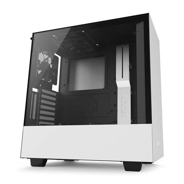 NZXT H500I Mid Tower ATX Case Black & White Malaysia