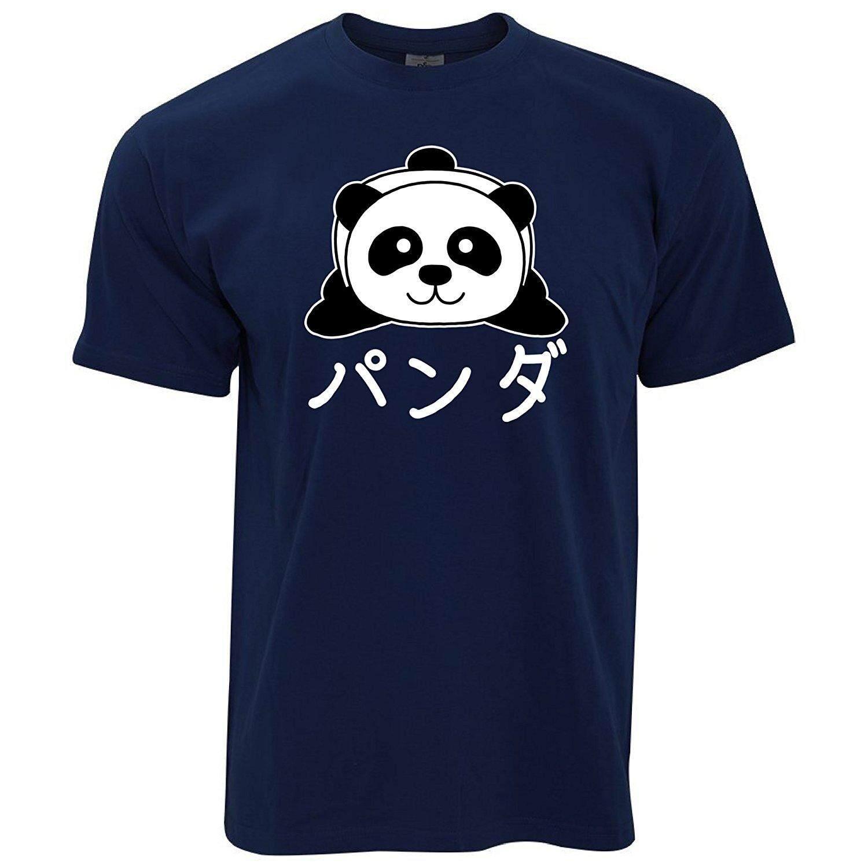 Tim dan Ted Panda Karakter Jepang Lucu Kawaii Adorable Bayi Panda Laki-laki Kaus Angkatan Laut Biru-Internasional