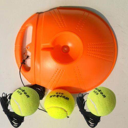Hot Single Tennis Trainer Portable Fill & Drill Base Youth Practice Training Aid  Orange By Glimmer.