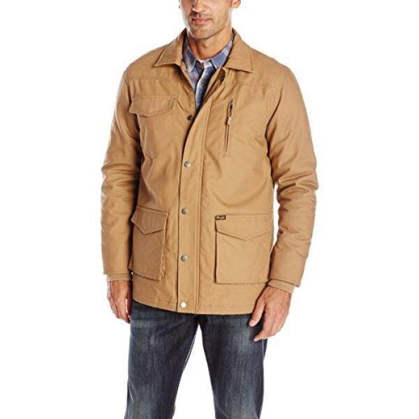 Wrangler Mens Barn Coat, Rawhide, Large - intl