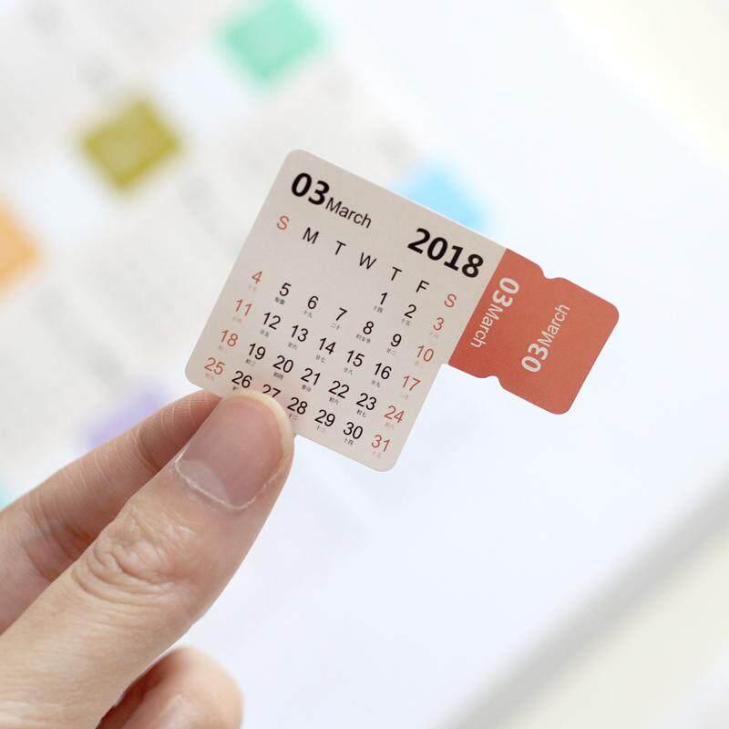 Mua 8pcs/pack 2018-2019 Calendar Sticker Notebook Index Monthly Category Sticker Planner Accessories Slip Sheet - intl