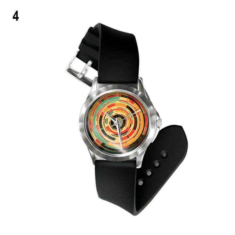 Phoenix B2C Colorful Painting Unisex Festival Gift Band Number Free Wrist Watch Hand Decor (4#) Malaysia