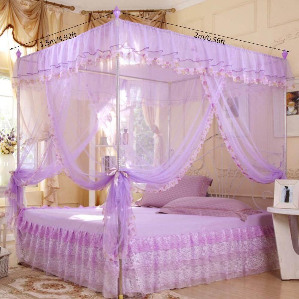 1.5X2 M Tiga Bukaan Samping Tempat Tidur Nyamuk Jaring Penuh Queen Kal Raja Perangkat Keras Bersih Kamar Tidur-Internasional