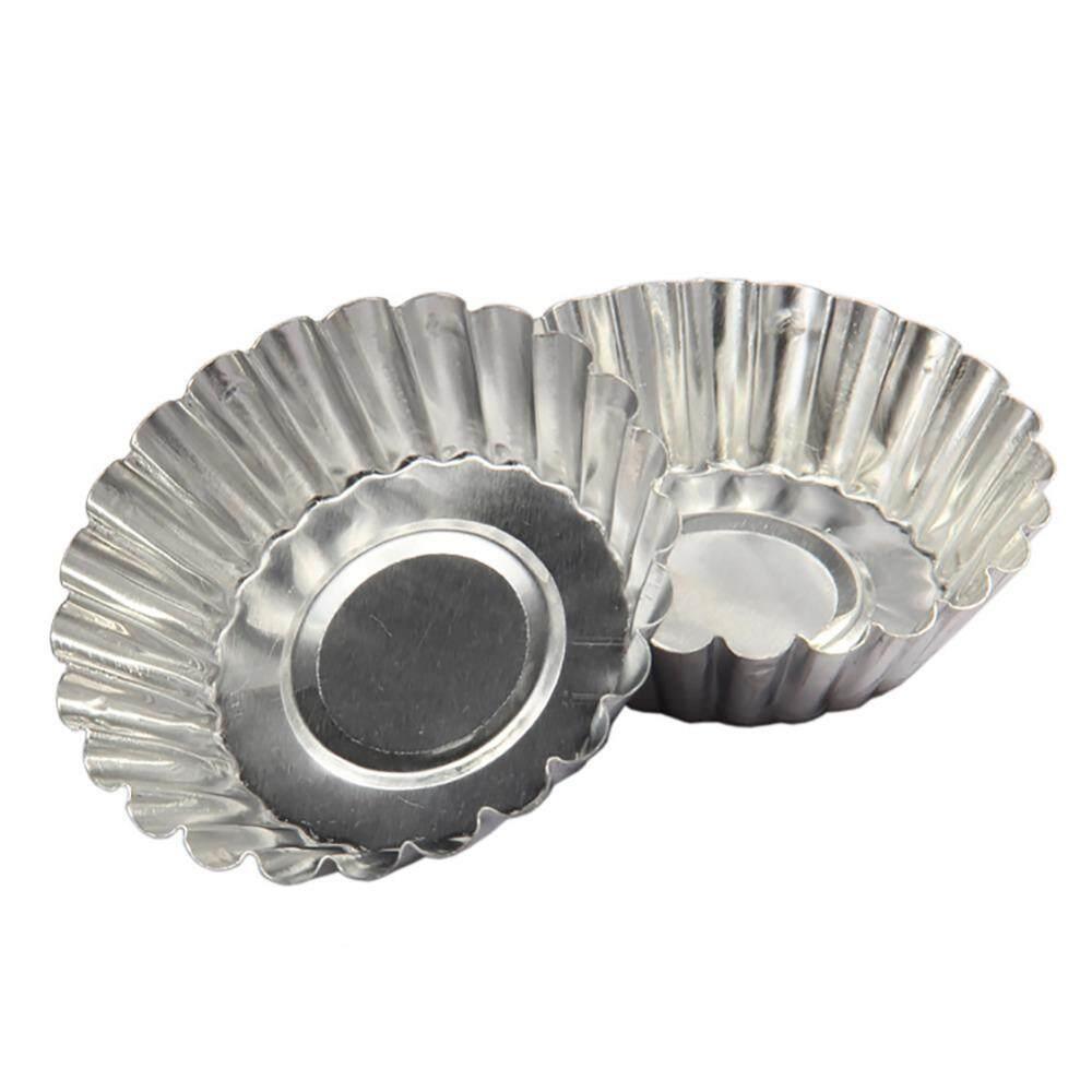 10 Butir Telur Tart Cetakan Kue Kue Tart Canpuran Aluminium Cetakan Baking Tool Cupcake Kue Telur
