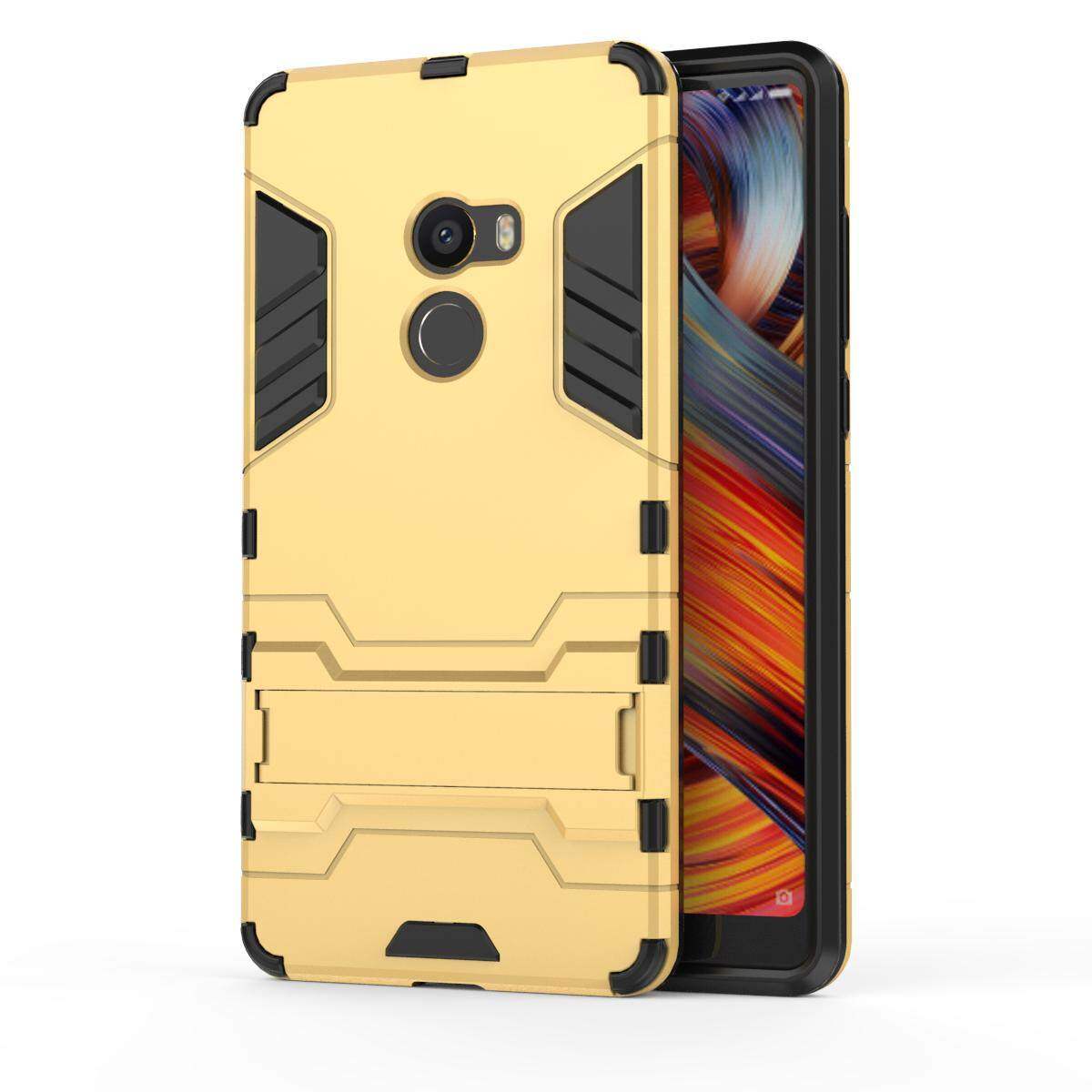 Detail Gambar Duge case for Xiaomi Mi Mix 2 Built-in Kickstand Hybrid Armor Case Detachable 2 in 1 Shockproof Tough Rugged Dual-Layer Case Cover for Xiaomi ...