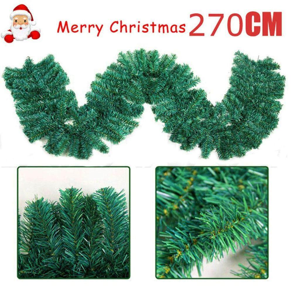Detail Gambar {Natal Khusus} Kendety 2.7 M Ornamen Dekorasi Natal Pohon Natal Garland Rotan