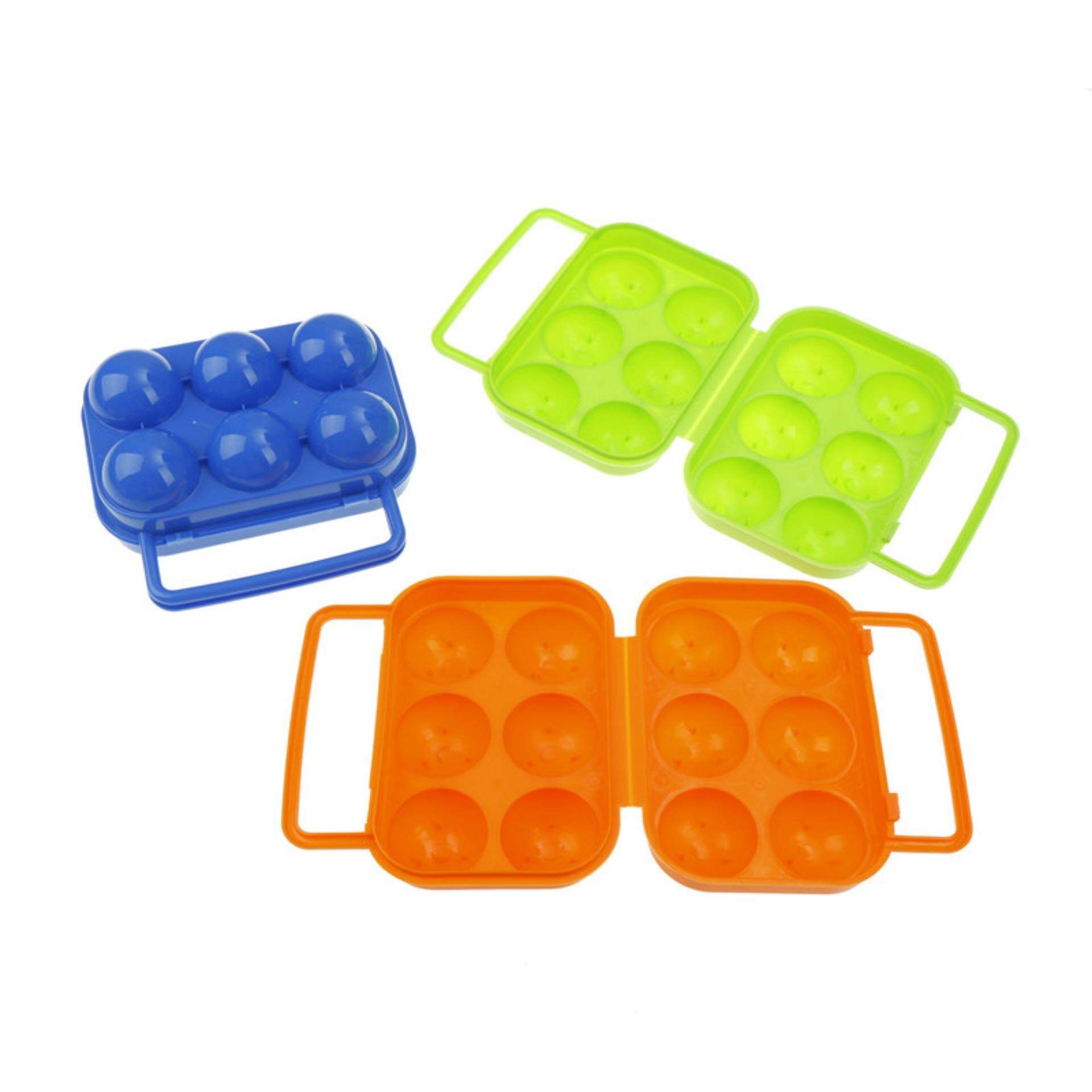 Detail Gambar Female Warrior Refrigerator Egg Storage Folding Box 6 Case Outdoor Portable Container Tray Green