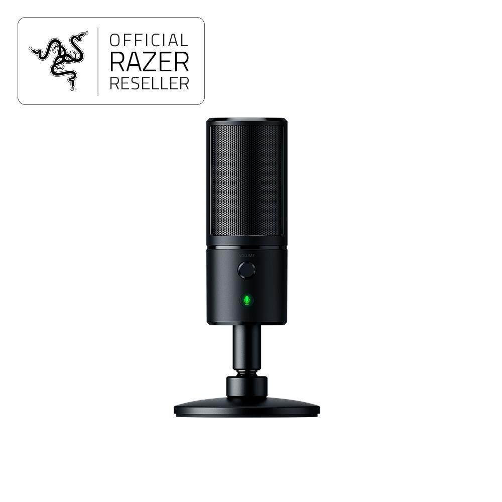 Features Razer Seiren X Gaming Condenser Microphone Rz19 02290100 Anansi Mmo Keyboard Rz03 00550100 R3m1