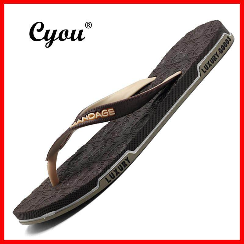 16d3fa2259154c Cyou 2018 New Arrivals Mens New Fashion Summer Beach Flip Flops Slippers  Sandals Casual Men Beach