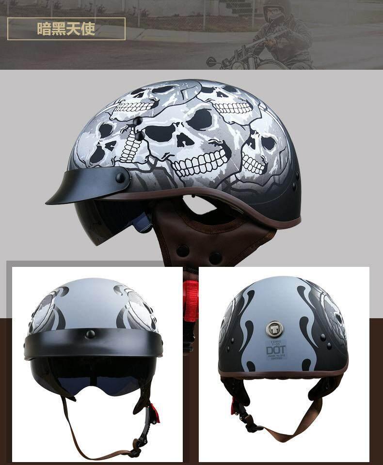 Asli TORC T55 Motor Halle Helm Setengah Helm Helm Musim Panas, Helm dan Helm Helm Dot.