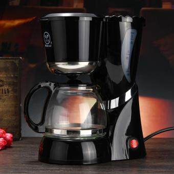 ล่าสุด 220-240V 600ml Black Drip Coffee Maker Machine Homade Coffee Tea Machine ราคาถูกที่สุด