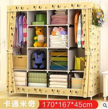 BYL Simple Wardrobe Home Fabric Folding Cloth Wardrobe