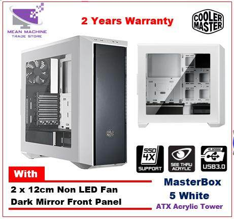 Cooler Master Masterbox 5 White Dark Mirror ATX Acrylic Gaming Chassis Malaysia