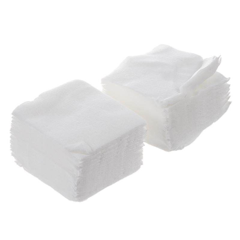 White Rectangle Facial Cotton Pads 200 Pcs for Make Up - intl Philippines
