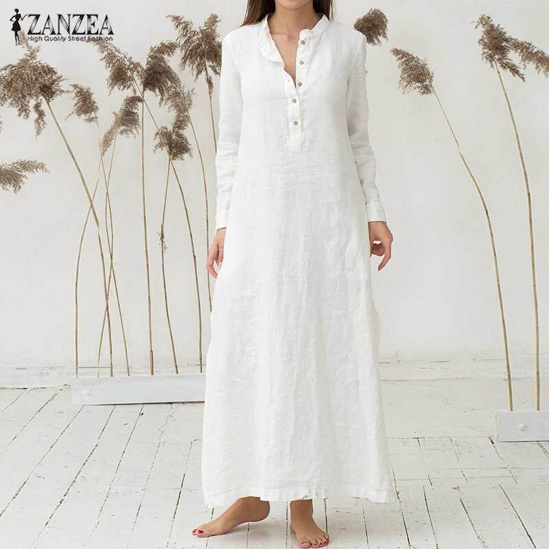 4fd45f0dc9fc3 VONDA 2018 Spring Elegant Pregnant Women Sexy Long Sleeve Casual Loose Long  Maxi Dresses Plus Size
