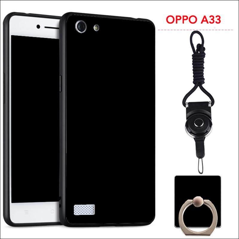 Untuk OPPO A33/Neo 7 Silicon Soft Ruber Case (Hitam)