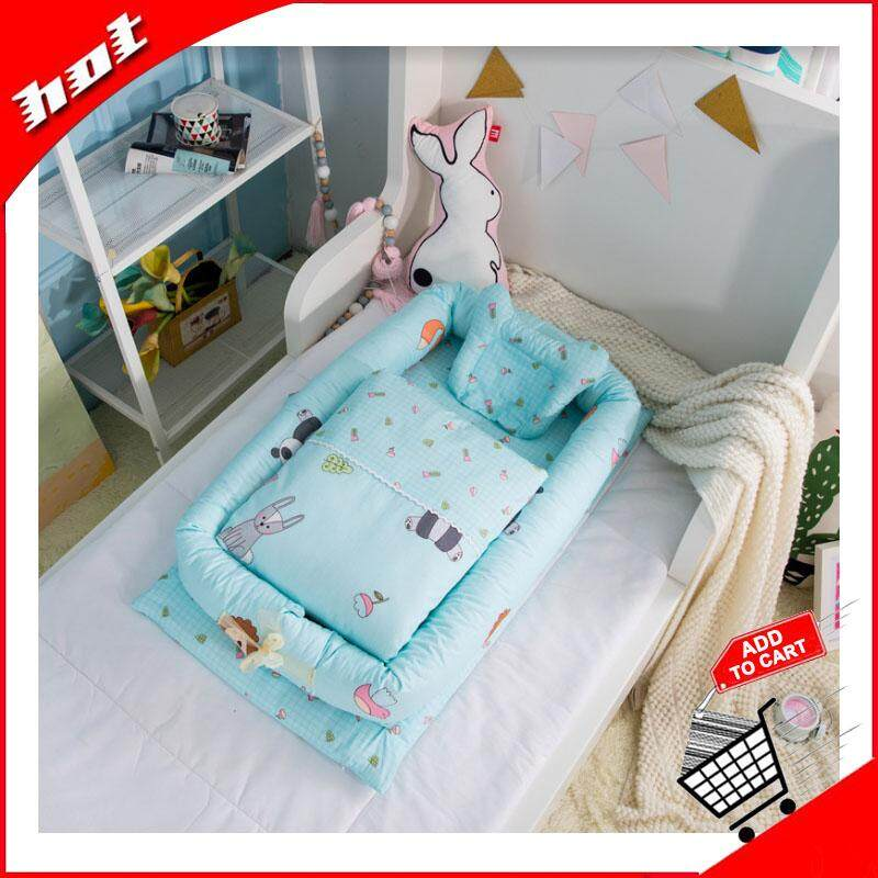 【fast Delivery】high Quality 6 Piece Set Cotton Convenient Baby Bed Removable Cleaning Baby Quarantine Bed Bionic Bed Of Newborns By Ocean Shopping Mall.