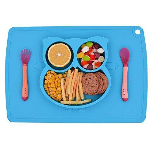 Cups, Dishes & Utensils Responsible Giggle Burp Majestic Blue Suction Portable Placemat For Toddlers Baby Toddler To To