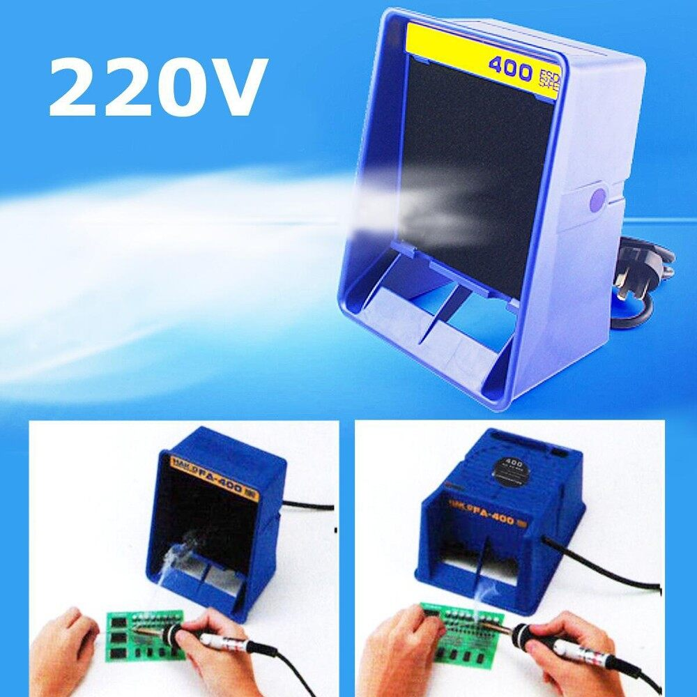 Solder Smoke Absorber Remover Fume Extractor Air Filter Fan For Soldering 220v By Moonbeam.