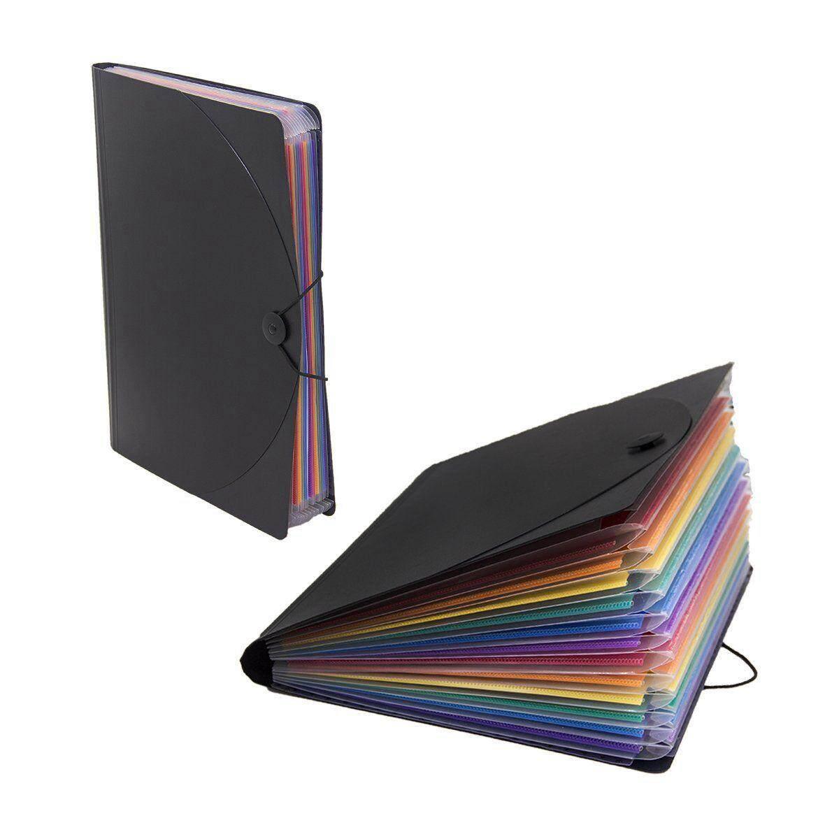 12534841a3b 12 Pocket Expanding Files Folder  A4 Expandable File organizer  Portable  Accordion File Folder