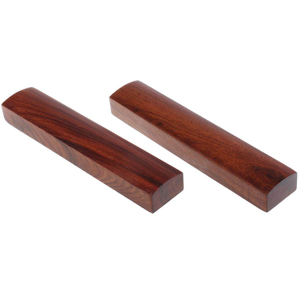 BolehDeals Polished 2 Pieces Rosewood Calligraphy Paperweight Writing Panting for House Office Desk Accessory