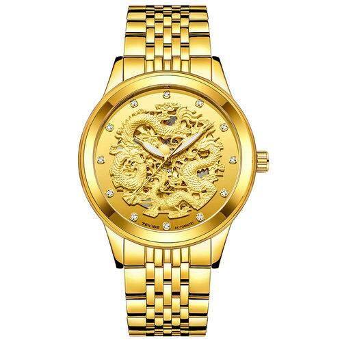 ĐỒNG HỒ CƠ NAM TEVISE Đồng hồ doanh nhân cho nam Cao Cấp 3D Rồng Vàng Đồng Hồ Nam Đồng Hồ Nam Tự Động Đồng hồ cơ Phát Sáng Retro nam Phong Cách thời trang thường nhật Đồng Hồ 9006 bán chạy