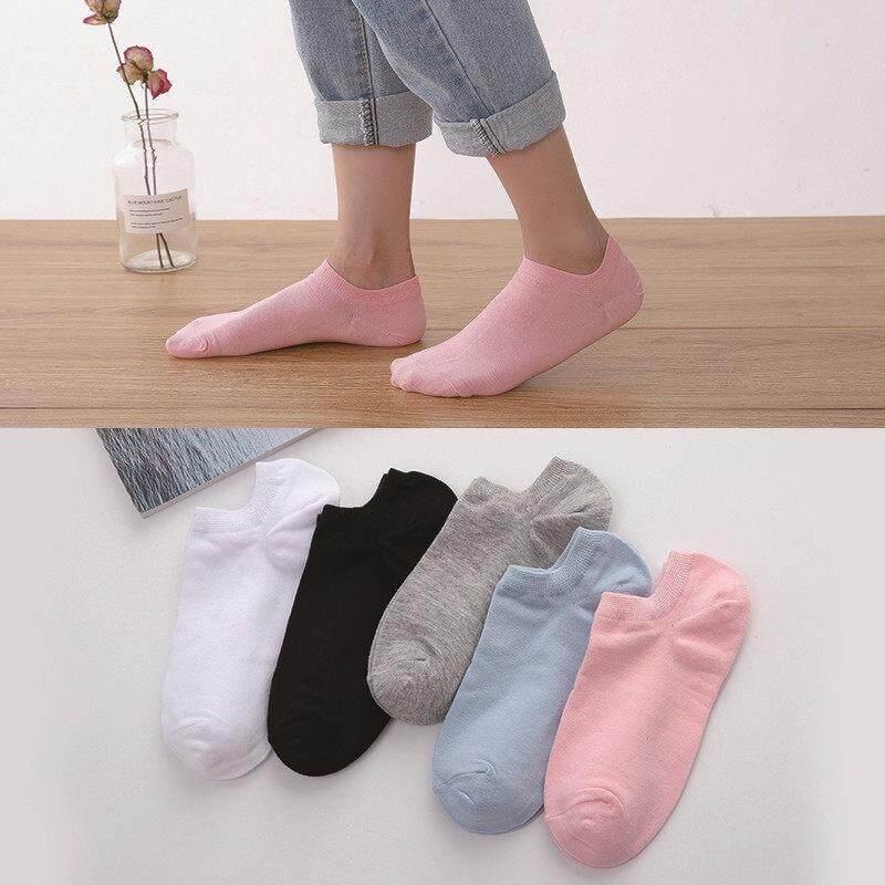 Kaus kaki wanita, kaus kaki mulut dangkal lucu fesyen Korea dan Jepang, kaus kaki