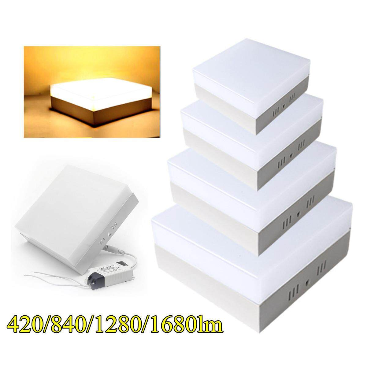 6-24W LED Ceiling Light Square Surface Mount Kitchen Fixture Bedroom Lamp Warm #12W