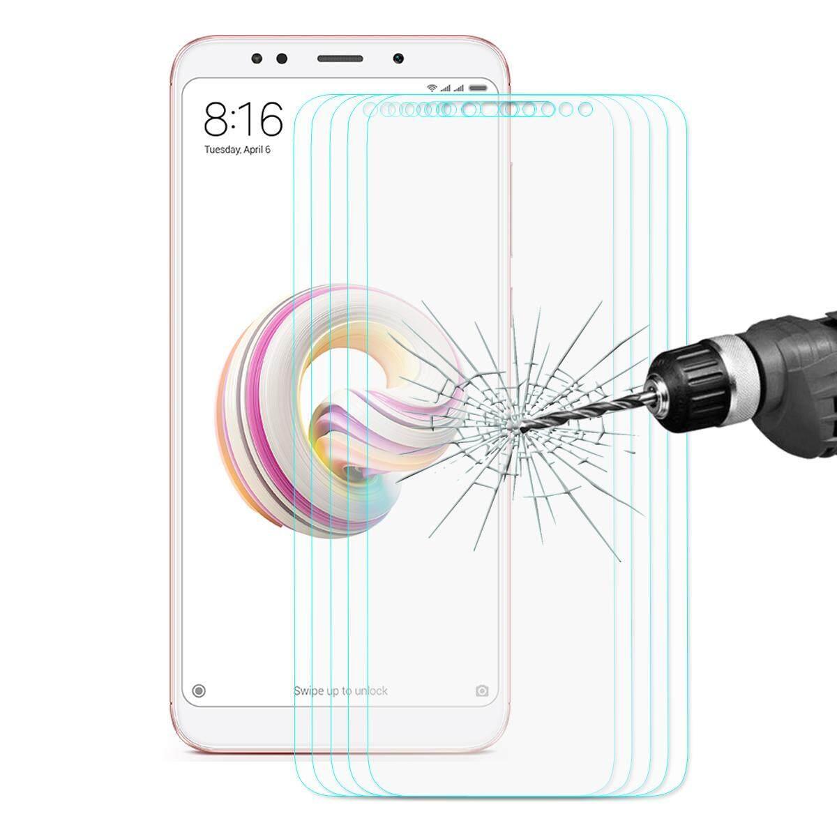 Light 1 Pcs atau 5 Pcs 0.26 Mm 9 H 2.5D Arc Edge Penuh Pelindung Layar untuk Xiaomi Redmi Note 5 Spesifikasi: 5 Pcs-Intl