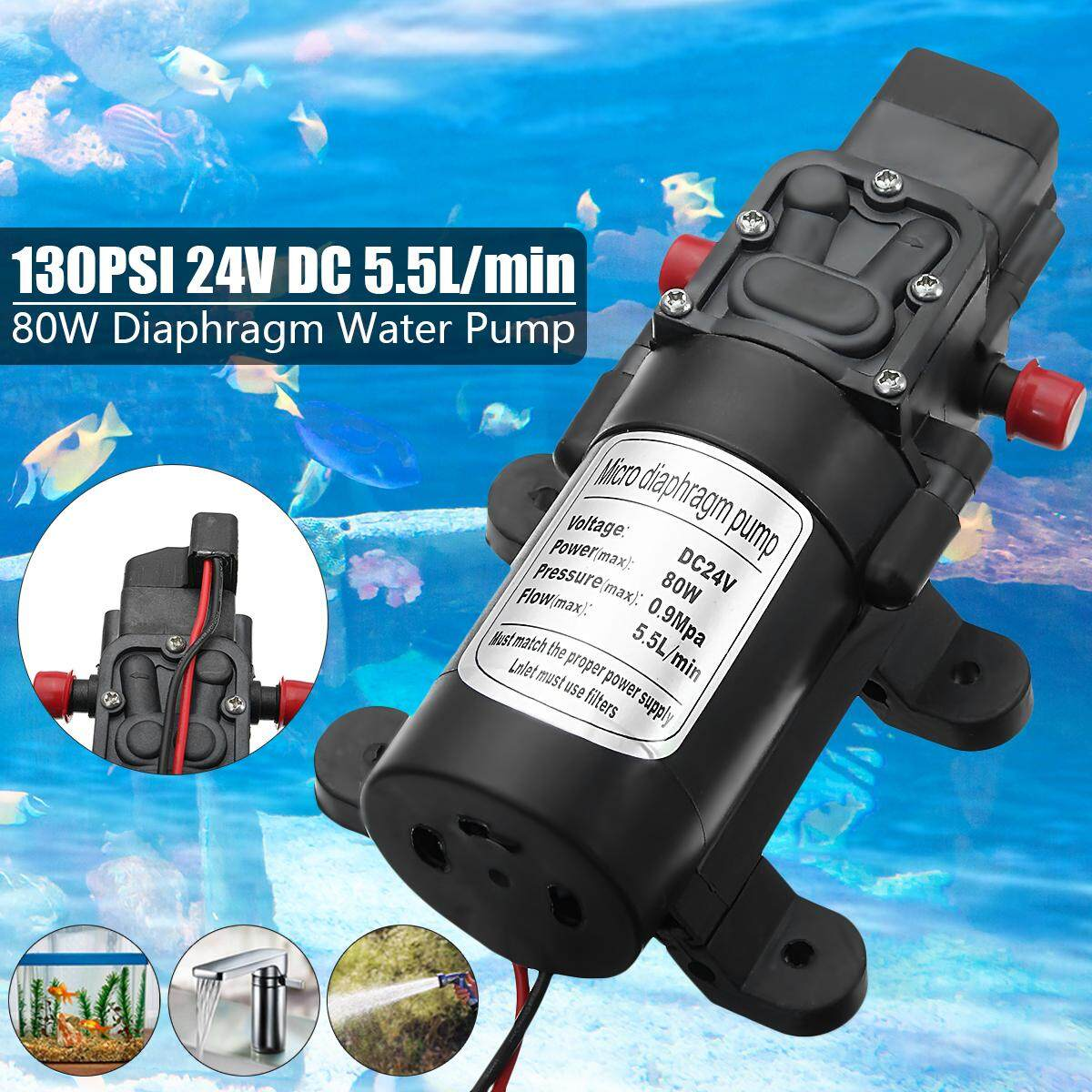 Buy Sell Cheapest Pressure Switch Automatic Best Quality Product Otomatis Angin Kompresor 4 Lubang 3 Cabang Tabung Diy 24v Dc 55l Min 130psi 80w High Diaphragm Water Pump