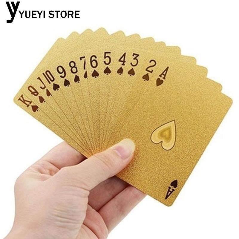 Hình ảnh Geometric 24K Gold Foil Poker Playing Cards For Casino Friends Durable
