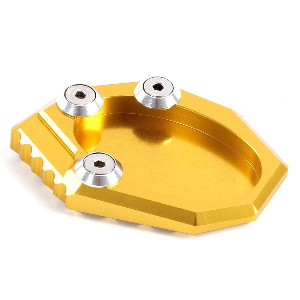 [gold] Motorbike Kickstand Foot Side Stand Extension Pad Support Plate for Kawasaki KLX250S VERSYS650 Z900