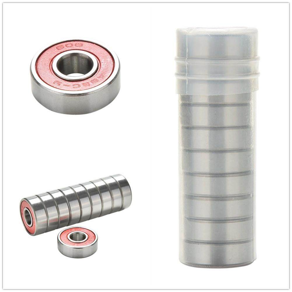 Redcolourful 10pcs Abec-9 Chrome Steel Bearings For Roller Skate Scooter Skateboard Wheel By Redcolourful.